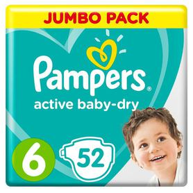 Подгузники Pampers Active Baby-Dry 6 (13-18 кг), 52 шт Pampers