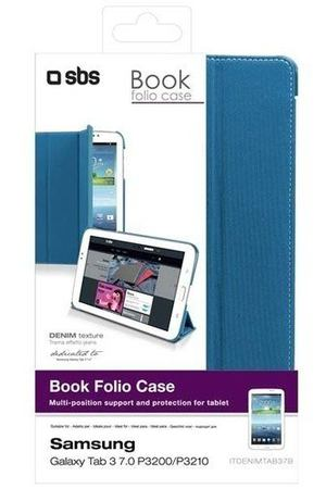 "Чехол для Samsung Galaxy Tab3 ""Book Folio Case"", голубой"