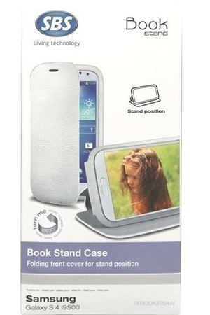"Чехол для Samsung Galaxy S4 ""Book Stand"", белый"