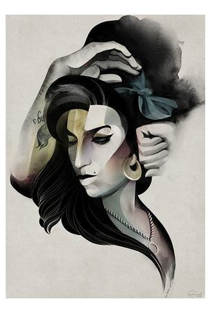 "Принт ""Amy Winehouse"" А2"