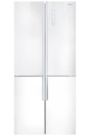 холодильник Ginzzu NFK-510 White glass
