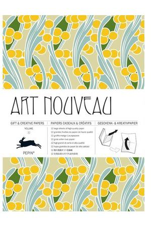 Gift Wrapping Paper Book. Art Nouveau