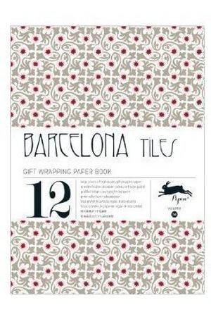 Gift Wrapping Paper Book. Barcelona Тiles