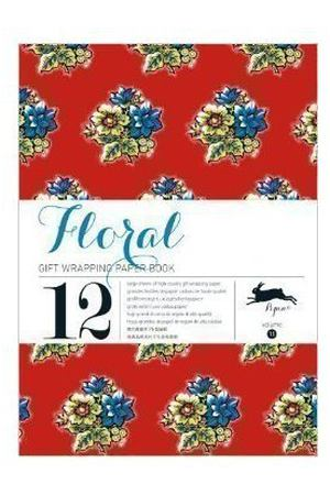 Gift Wrapping Paper Book. Floral
