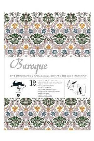 Gift Wrapping Paper Book. Baroque