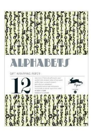 Gift Wrapping Paper Book. Alphabets