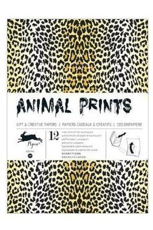 Gift Wrapping Paper Book. Animal Prints