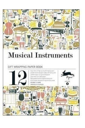 Gift Wrapping Paper Book. Musical Instruments