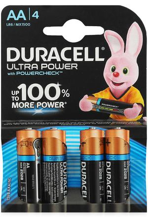 батарейки AA (LR6) 4шт. Duracell щелочные Ultra Power