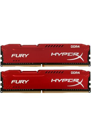 DIMM DDR4, 16ГБ (2x8ГБ), Kingston HyperX Fury Red, HX424C15FR2K2/16
