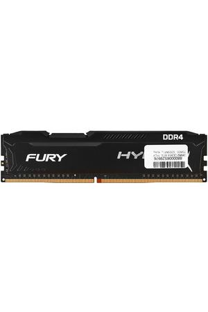 DIMM DDR4, 8ГБ, PC4-25600, 3200МГц, Kingston HyperX Fury Black, HX432C18FB2/8