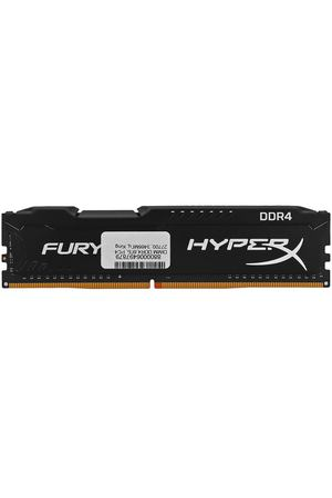 DIMM DDR4, 8ГБ, PC4-27700, 3466МГц, Kingston HyperX Fury Black, HX434C19FB2/8