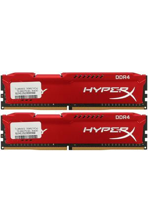 DIMM DDR4, 16ГБ (2x8ГБ), Kingston HyperX Fury Red, HX432C18FR2K2/16