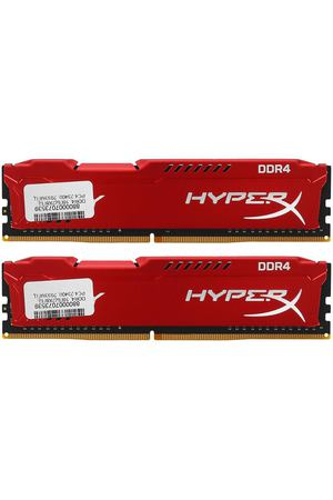 DIMM DDR4, 16ГБ (2x8ГБ), Kingston HyperX Fury Red, HX429C17FR2K2/16