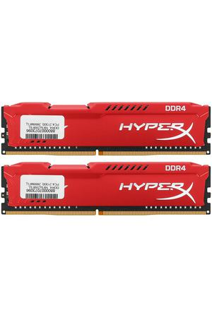 DIMM DDR4, 16ГБ (2x8ГБ), Kingston HyperX Fury Red, HX426C16FR2K2/16