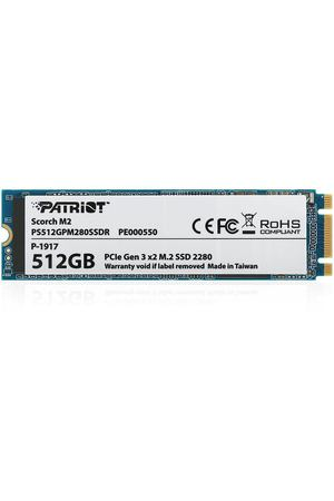SSD накопитель 512ГБ, M.2, PCIe 3.0, Patriot Scorch, PS512GPM280SSDR
