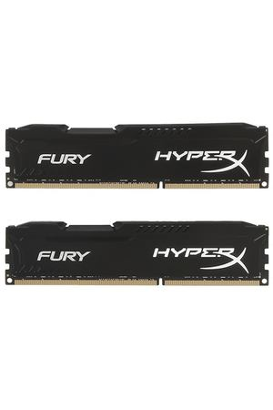 DIMM DDR3, 16ГБ (2x8ГБ), Kingston HyperX FURY black, HX316C10FBK2/16