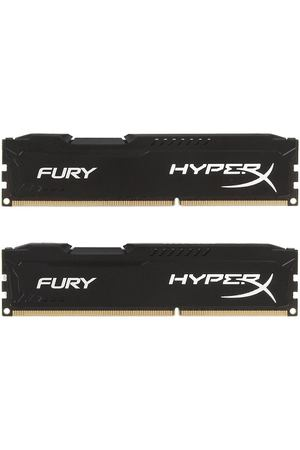 DIMM DDR3, 8ГБ (2x4ГБ), Kingston HyperX FURY black, HX316C10FBK2/8