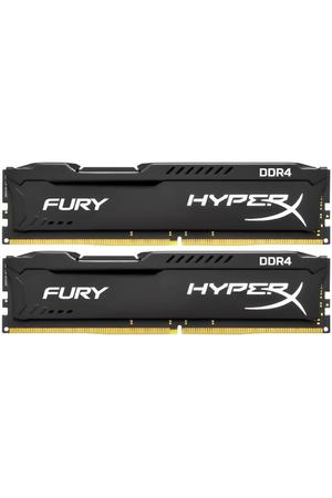 DIMM DDR4, 16ГБ (2x8ГБ), Kingston HyperX Fury Black, HX424C15FB2K2/16