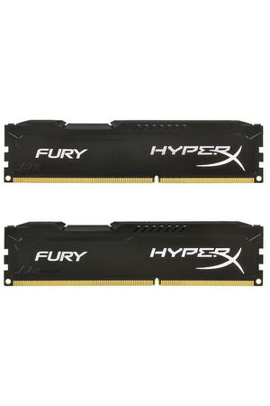 DIMM DDR4, 32ГБ (2x16ГБ), Kingston HyperX Fury Black, HX424C15FBK2/32