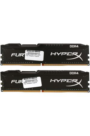 DIMM DDR4, 16ГБ (2x8ГБ), Kingston HyperX Fury Black, HX434C19FB2K2/16