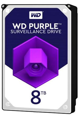 жесткий диск HDD 8ТБ, Western Digital Purple, WD82PURZ