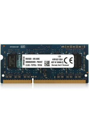 SO-DIMM DDR3, 4ГБ, Kingston, KVR16S11S8/4