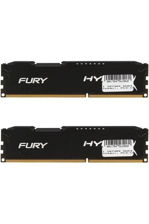 DIMM DDR3, 8ГБ (2x4ГБ), Kingston HyperX FURY black, HX318C10FBK2/8