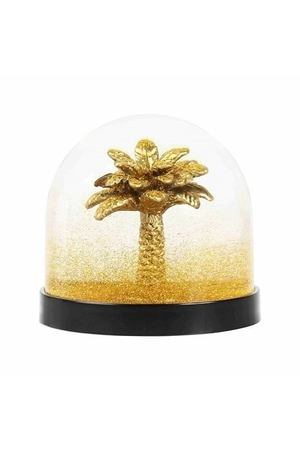 "Снежный шар ""Wonderball palm tree gold glitter"", 8,5 см"