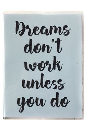 "Планер ""Dreams dont work"", 208 страниц, 16,5 х 23,5 см"