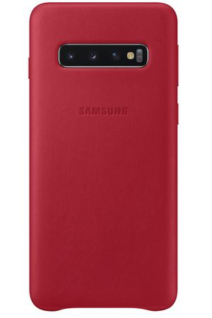 Чехол Samsung Leather Cover для Galaxy S10, Red