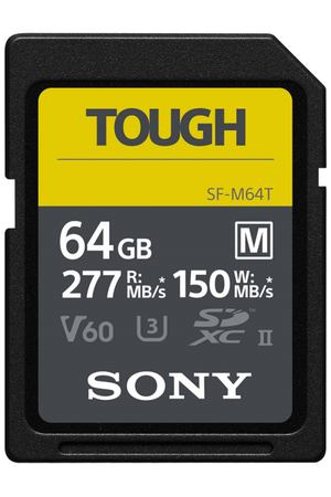 Карта памяти SDXC Sony 64GB 277R/150W Tough (SF-M64T/T)