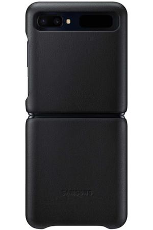 Чехол Samsung Leather Cover для Galaxy Z Flip, Black