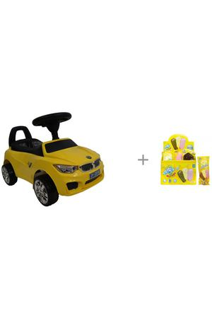 Каталка RiverToys BMW JY-Z01B и мыльные пузыри 1 Toy Мы-шарики!