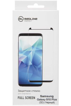 Защитное стекло для Samsung Red Line для Samsung Galaxy S10 Plus, FScreen(3D) TG Black