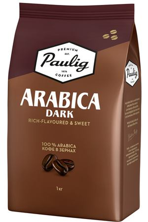 Кофе в зернах Paulig Arabica Dark bean 1000g