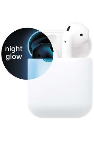 Чехол для AirPods Everstone ES-APC-001 Nightglow белый/синий
