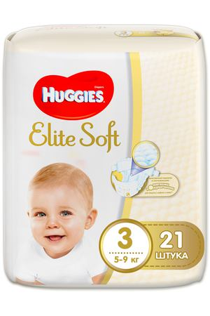 Подгузники Huggies Elite Soft 3 (5-9кг) 21 шт