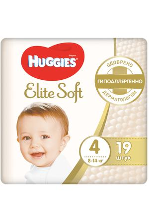 Подгузники Huggies Elite Soft 4 (8-14 кг) 19 шт