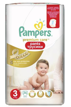 Трусики Pampers prem midi 6-11 кг 56 шт