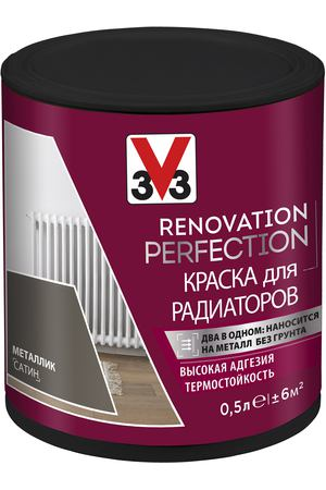 Краска V33 Renovation Perfection металлик 500 мл