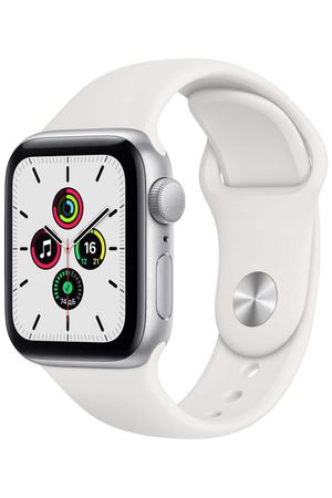 Смарт-часы Apple Watch SE 44mm Silver Aluminum Case with White Sport Band (MYDQ2RU/A)