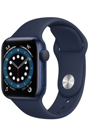Смарт-часы Apple Watch S6 44mm Blue Aluminum Case with Deep Navy Sport Band (M00J3RU/A)