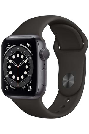 Смарт-часы Apple Watch S6 40mm Space Gray Aluminum Case with Black Sport Band (MG133RU/A)