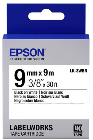 Картридж для принтера Epson Tape Standard Black/White 9/9 (C53S653003)