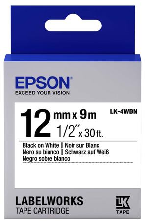 Картридж для принтера Epson Tape Standard Black/White 12/9 (C53S654021)