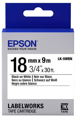 Картридж для принтера Epson Tape Standard Black/White 18/9 (C53S655006)