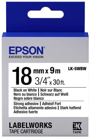 Картридж для принтера Epson Tape Standard Black/White 18/9 (C53S655012)