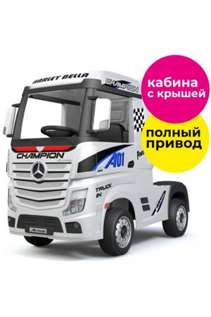 Электромобиль R-Wings фура Mercedes-Benz Actros 4WD 12V, White (RWE358)